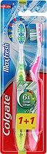 Düfte, Parfümerie und Kosmetik Zahnbürste mittel Max Fresh grün, rosa 2 St. - Colgate Max Fresh Medium