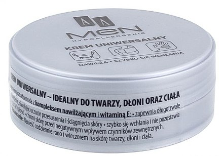 Feuchtigkeitsspendende Universalcreme - AA Men Universal Cream — Bild N2