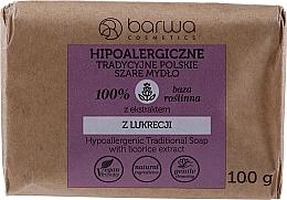 Düfte, Parfümerie und Kosmetik Traditionelle graue Seife mit Lakritzextrakt - Barwa Hypoallergenic Traditional Soap With Licorice Extract