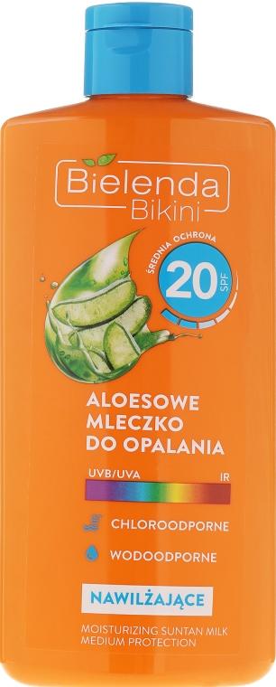 Sonnenschutzmilch mit Aloe Vera SPF20 - Bielenda Bikini Tanning Aloe Lotion SPF20 — Bild N1