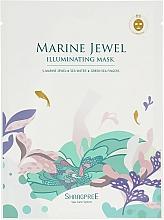 Düfte, Parfümerie und Kosmetik Regenerierende und glättende Tuchmaske für strahlende Gesichshaut - Shangpree Marine Jewel Illuminating Mask
