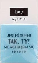 Düfte, Parfümerie und Kosmetik Handgemachte Naturseife mit Fruchtduft - LaQ Short Message Soap: Männer haben auch Gefühle ... sie fühlen sich zum Beispiel hungrig :-D :-D :-D Natural Soap