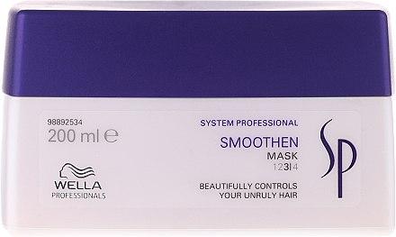 Glättende Intensivkur für dickes, widerspenstiges und rebellisches Haar - Wella SP Smoothen Mask — Bild N1