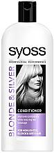Düfte, Parfümerie und Kosmetik Haarspülung gegen Haarbruch für graues und blondes Haar - Syoss Blond & Silver Conditioner