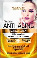 Düfte, Parfümerie und Kosmetik Verjüngende Gesichtsmaske mit Gold - Floslek Anti-Aging Gold & Energy Mask