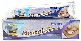 Düfte, Parfümerie und Kosmetik Aufhellende Kräuter-Zahnpasta-Gel mit Schwarzkümmel und Miswak-Extrakt - Hemani Miswak Herbal Dental Gel