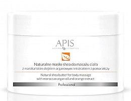 Düfte, Parfümerie und Kosmetik Sheabutter zur Körpermassage mit Arganöl und Orangenextrakt - APIS Professional Orange TerApis Natural Shea Butter