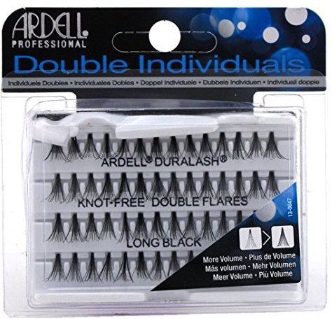 Wimpernbüschel-Set - Ardell Double Individuals Knot Free Double Flares Black Long — Bild N1