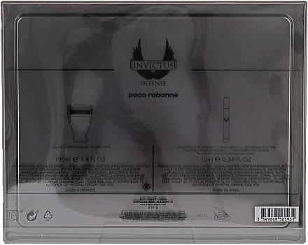 Paco Rabanne Invictus Intense - Duftset (Eau de Toilette/100ml + Eau de Toilette/Mini/10ml) — Bild N2