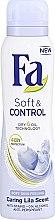 Düfte, Parfümerie und Kosmetik Deospray Antitranspirant - Fa Soft & Control Lila Scent Deodorant