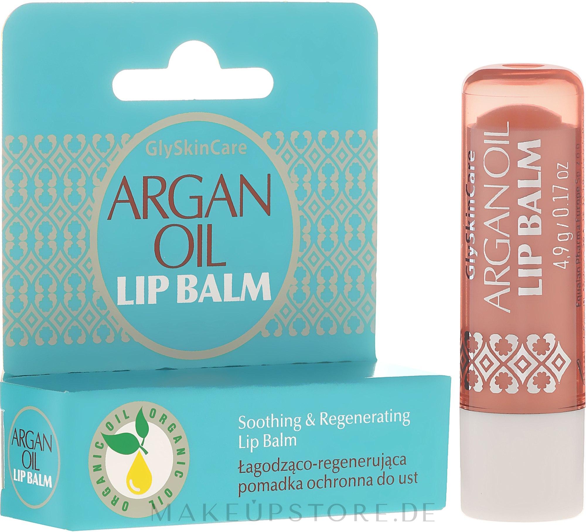 Beruhigender und regenerierender Lippenbalsam mit Arganöl - GlySkinCare Argan Oil Lip Balm — Bild 4.9 g