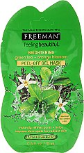 Düfte, Parfümerie und Kosmetik Peel-Off Gelmaske mit Grünem Tee und Orangenblüte - Freeman Feeling Beautiful Brightening Green Tea+Orange Blossom Peel-Off Gel Mask (Mini)