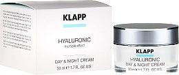 Düfte, Parfümerie und Kosmetik Intensiv hydratisierende Gesichtscreme für Tag und Nacht mit Hyaluronsäure - Klapp Hyaluronic Day & Night Cream