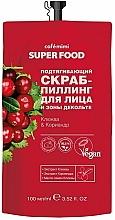 Düfte, Parfümerie und Kosmetik Peeling für Gesicht und Dekolleté mit Preiselbeere und Koriander - Cafe Mimi Super Food