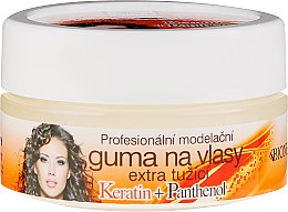 Düfte, Parfümerie und Kosmetik Haarwachs mit Keratin + Panthenol extra starker Halt - Bione Cosmetics Keratin + Panthenol Professional Extra Strong Sculpting Rubber