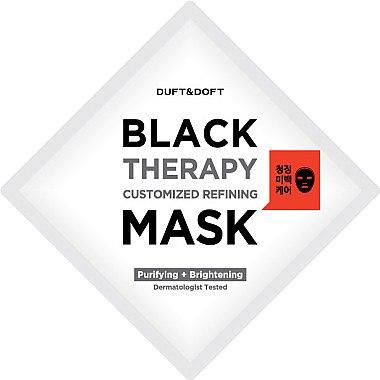Tuchmaske gegen große Poren und fettige Haut mit Lotus, Camu-Camu und Glutathion - Duft & Doft Black Therapy Customized Refining Mask — Bild N3