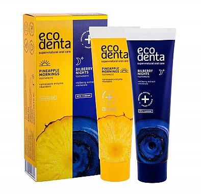 Mundpflege-Set - Ecodenta (Zahnpasta für den Morgen 100ml + Zahnpasta vor dem Schlafen 100ml) — Bild N1