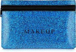 Düfte, Parfümerie und Kosmetik Kosmetiktasche Glitter Pouch blau 18x11 cm - MakeUp