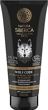 Schützende Hand- und Gesichtscreme - Natura Siberica For Men Only Wolf Code Outdoor Protection Cream For Face & Hands — Bild N1
