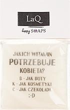 Düfte, Parfümerie und Kosmetik Handgemachte Naturseife mit Ananasduft - LaQ Short Message Soap: Welche Vitamine braucht eine Frau? -B,K,C Natural Soap