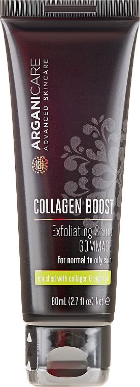 Gesichtspeeling mit Kollagen und Arganöl - Arganicare Collagen Boost Exfoliating Scrub — Bild N2