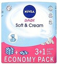 Düfte, Parfümerie und Kosmetik Sanfte Feuchttücher für Babys 4x63 St. - Nivea Baby Soft & Cream