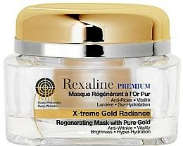 Düfte, Parfümerie und Kosmetik Verjüngende und regenerierende Gesichtsmaske mit 24K Goldpartikeln - Rexaline Line Killer X-Treme Gold Radiance Mask