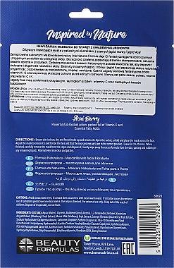Feuchtigkeitsspendende Tuchmaske mit Hyaluronsäure - Beauty Formulas — Bild N2