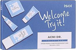 Düfte, Parfümerie und Kosmetik Gesichtspflegeset - Isoi Acni Dr. Trial Kit (Gesichtstonikum 30ml + Gel-Creme 7ml + Serum 3ml + Reinigungsgel 7x1.3ml)