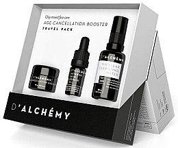 Düfte, Parfümerie und Kosmetik Gesichtspflegeset - D'Alchemy Travel Pack (Booster 15ml + Gesichtsöl 5ml + Mizellenwasser 30ml)
