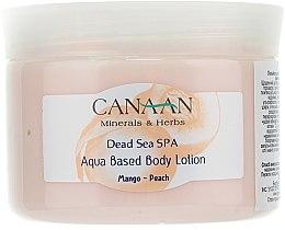 Düfte, Parfümerie und Kosmetik Pflegende Körperlotion auf Wasserbasis mit Mango-Pfirsich-Duft - Canaan Minerals & Herbs Aqua Based Body Lotion Mango-Peach