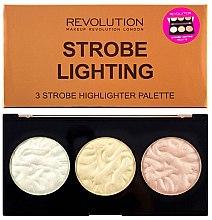 Düfte, Parfümerie und Kosmetik Highlighter-Palette - Makeup Revolution 3 Strobe Highlighter Palette
