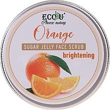 Düfte, Parfümerie und Kosmetik Gesichtspeeling mit Zuckergelee und Orange - Eco U Orange Brightening Sugar Jelly Face Scrub