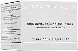 Düfte, Parfümerie und Kosmetik Intensiv aufhellende und feuchtigkeitsspendende Nachtcreme - Laura Beaumont Ultra Whitening Night Care