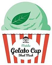 Düfte, Parfümerie und Kosmetik Feuchtigkeitsspendende und beruhigende Tuchmaske mit grünem Matcha - Dr. Mola Matcha Gelato Cup Sheet Mask