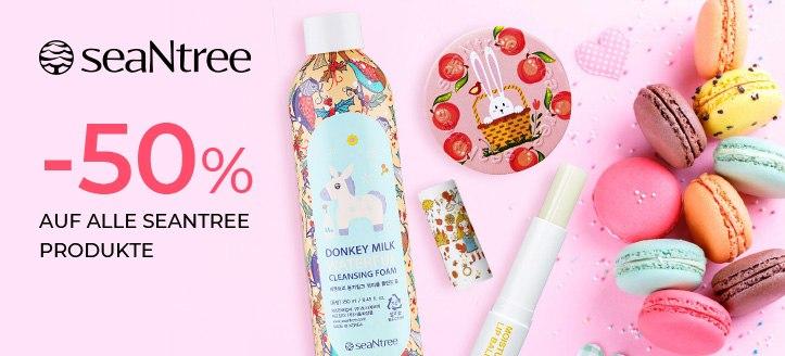 -50% auf alle SeaNtree Produkte. Die Preise auf der Website sind inklusive Rabatt