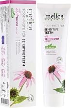 Düfte, Parfümerie und Kosmetik Zahnpasta für empfindliche Zähne mit Echinacea-Extrakt - Melica Organic Sensitive Teeth