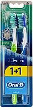 Düfte, Parfümerie und Kosmetik Zahnbürste mittel 3D White Fresh grün, blau 2 St. - Oral-B 3D White Fresh 40 Medium