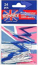 Düfte, Parfümerie und Kosmetik Haarklemmen 60 mm 24 St. - Ronney White Hair Bobby Pins