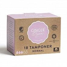 Tampons ohne Applikator Normal 18 St. - Ginger Organic — Bild N1
