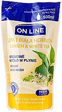 """Düfte, Parfümerie und Kosmetik Flüssigseife """"Linde und Weißer Tee"""" - On Line Liquid Soap (Nachfüller)"""