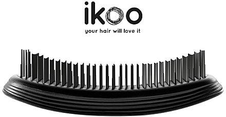 Haarbürste - Ikoo Pocket Black Brush — Bild N4