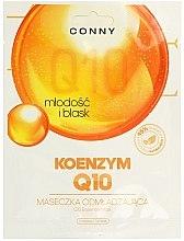 Düfte, Parfümerie und Kosmetik Feuchtigkeitsspendende Tuchmaske für das Gesicht mit Coenzym Q10 - Conny Q10 Essence Mask