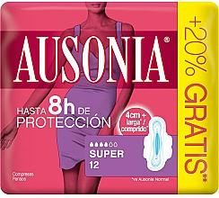 Düfte, Parfümerie und Kosmetik Damenbinden mit Flügeln 12 St. - Ausonia Super Plus Towels
