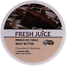Düfte, Parfümerie und Kosmetik Körperbutter Chocolate & Marzipan mit Sheabutter - Fresh Juice Body Butter Chocolate & Marzipan With Shea Butter