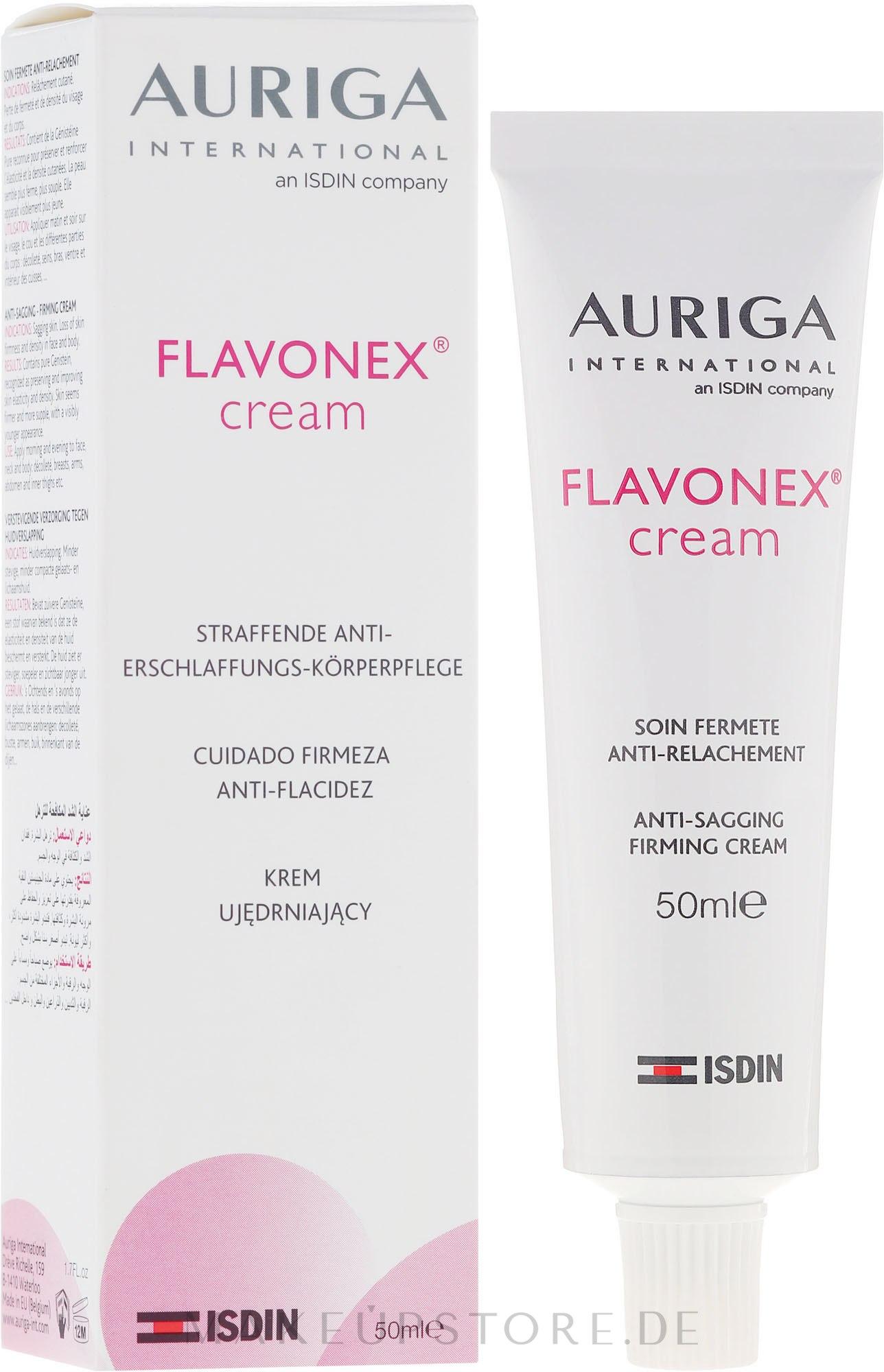 Festigende Geschichts- und Körpercreme - Auriga Flavonex Skin Ageing And Elasticity — Bild 50 ml