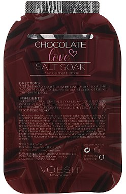 4-stufige Chocolate Love Fußpflege - Voesh Deluxe Pedicure Chocolate Love Pedi In A Box 4in1 (1. Meer Badesalz, 2. Zuckerpeeling, 3. Schlammmaske, 4. Massagebutter)(35g) — Bild N3