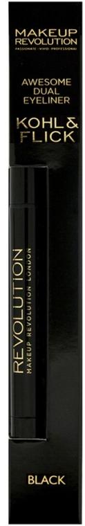 Eyeliner - Makeup Revolution Awesome Dual Eyeliner Kohl & Flick — Bild N2