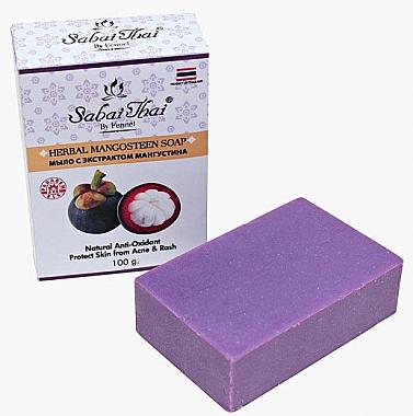 Seife mit Mangostan Extrakt gegen Akne - Sabai Thai Herbal Mangosteen Soap — Bild N2