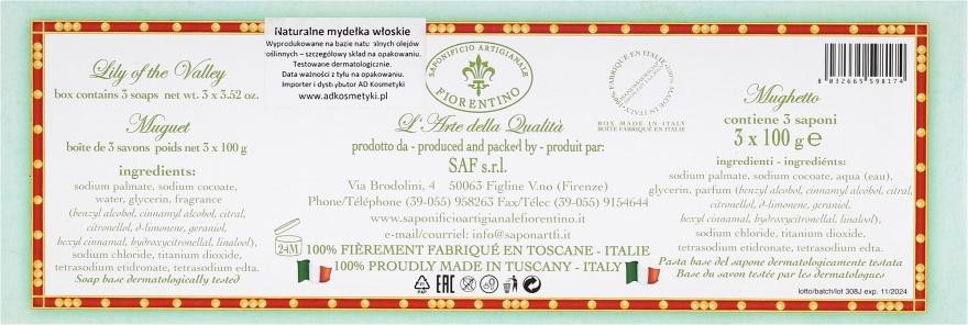 Seifenset Maiglöckchen - Saponificio Artigianale Fiorentino Lily Of The Valley Soap — Bild N3